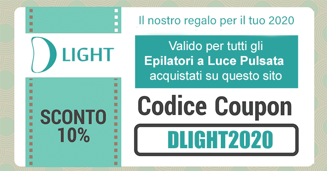 Codice coupon epilatori luce pulsata D Light 2020